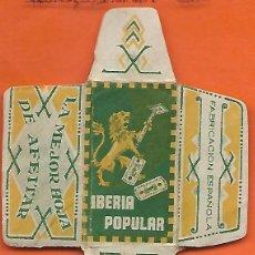 Antigüedades: ESPAÑA-FUNDA HOJA AFEITAR Y CUCHILLA MARCA IBERIA -LAMETTA DA BARBA,RAZOR BLADE,LAME DE RASOIR. Lote 205233662