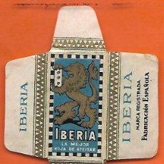 Antigüedades: ESPAÑA-FUNDA HOJA AFEITAR Y CUCHILLA MARCA IBERIA -LAMETTA DA BARBA,RAZOR BLADE,LAME DE RASOIR. Lote 252461150