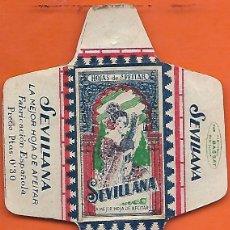 Antigüedades: ESPAÑA-FUNDA HOJA AFEITAR Y CUCHILLA MARCA SEVILLANA-LAMETTA DA BARBA,RAZOR BLADE,LAME DE RASOIR. Lote 205242177