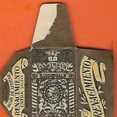 Antigüedades: ESPAÑA-FUNDA HOJA AFEITAR Y CUCHILLA MARCA RENACIMIENTO-LAMETTA DA BARBA,RAZOR BLADE,LAME DE RASOIR. Lote 205251933