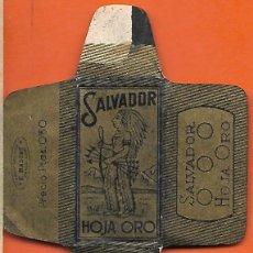 Antigüedades: ESPAÑA-FUNDA HOJA AFEITAR MARCA SALVADOR-LAMETTA DA BARBA,RAZOR BLADE,LAME DE RASOIR. Lote 205252237