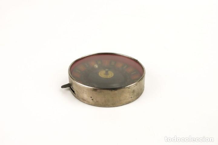 Antigüedades: BV-París - Antigua Ruleta mecanismo automático -juego azar- metal cromado - Principios SXX - Foto 3 - 205277107