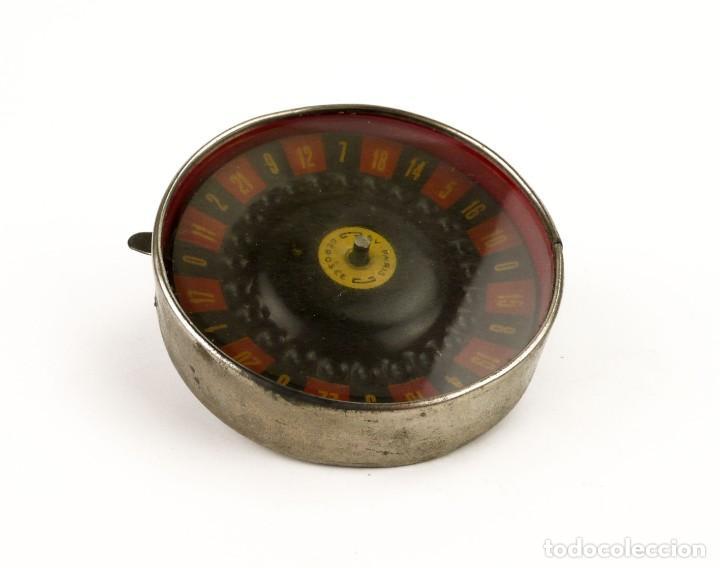 Antigüedades: BV-París - Antigua Ruleta mecanismo automático -juego azar- metal cromado - Principios SXX - Foto 4 - 205277107