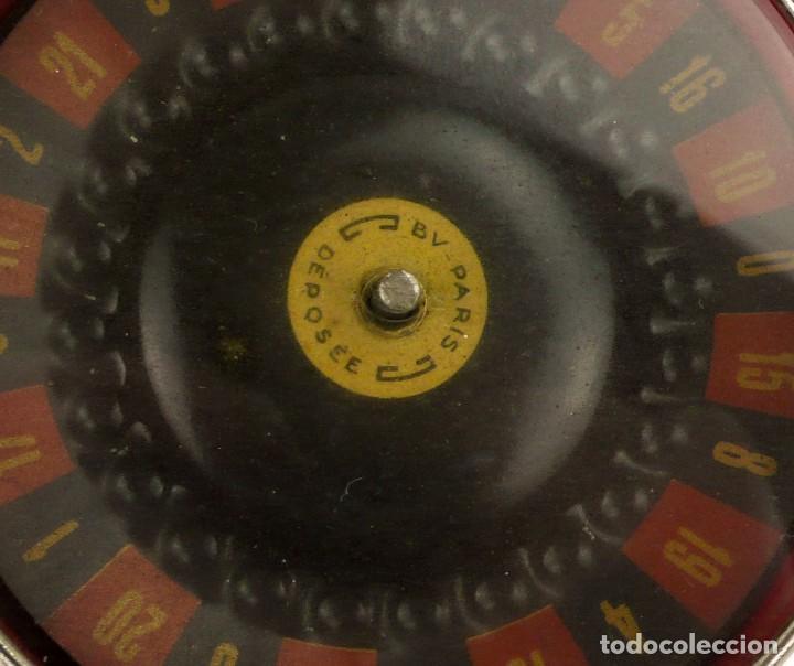 Antigüedades: BV-París - Antigua Ruleta mecanismo automático -juego azar- metal cromado - Principios SXX - Foto 6 - 205277107