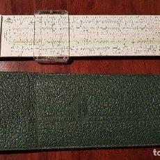 Antigüedades: ANTIGUA REGLA DE CALCULO, FABER CASTELL, 62/82, MADE IN GERMANY, CON SU FUNDA ORIGINAL.. Lote 205324050