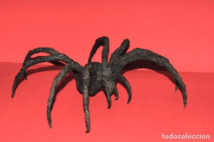 Antigüedades: EXTRAORDINARIA ARAÑA EN HIERRO FORJADO - Foto 3 - 205324097