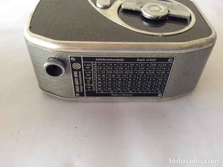 Antigüedades: CÁMARA DE CINE A CUERDA 8mm BAUER 88F CON FUNDA ALEMANA BUEN ESTADO - Foto 3 - 205386666