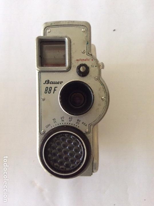 Antigüedades: CÁMARA DE CINE A CUERDA 8mm BAUER 88F CON FUNDA ALEMANA BUEN ESTADO - Foto 4 - 205386666