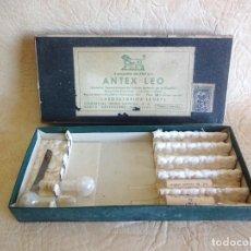 Antigüedades: ANTIGUA CAJA MEDICAMENTO AMPOLLAS ANTEX LEO LABORATORIOS LEOBYL. Lote 205395953