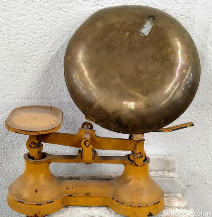 Antigüedades: Bonita peso completo con sus ponderales. Siglo XIX. - Foto 2 - 205456930
