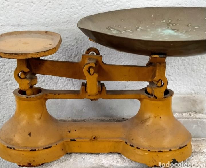Antigüedades: Bonita peso completo con sus ponderales. Siglo XIX. - Foto 5 - 205456930