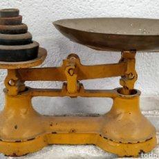 Antigüedades: BONITA PESO COMPLETO CON SUS PONDERALES. SIGLO XIX.. Lote 205456930