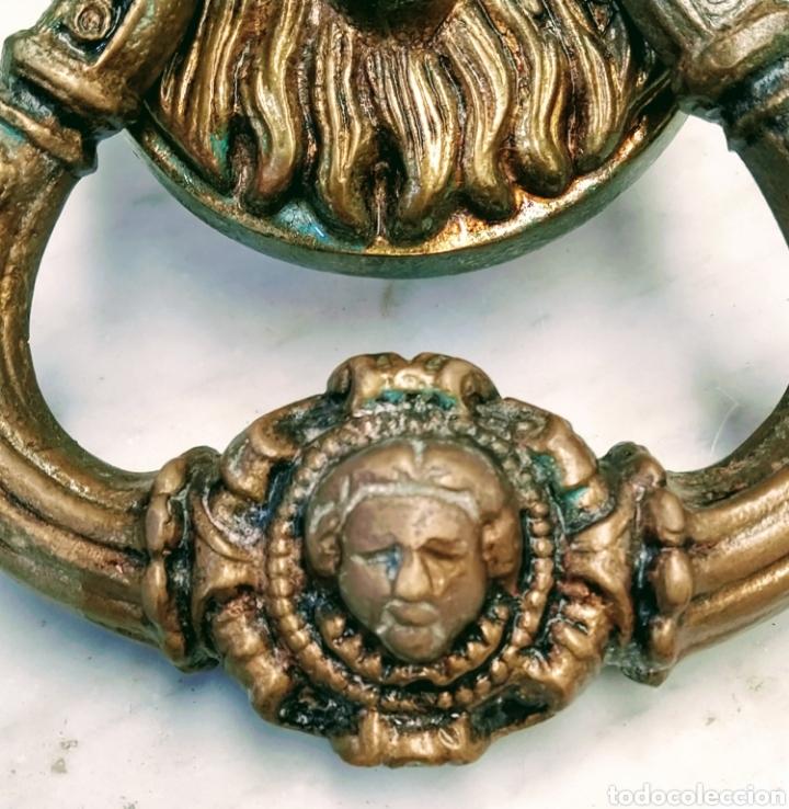 Antigüedades: Magnifico llamador de puerta en bronce. Grandes dimensiones. Siglo XVIII/XIX. - Foto 3 - 205457263