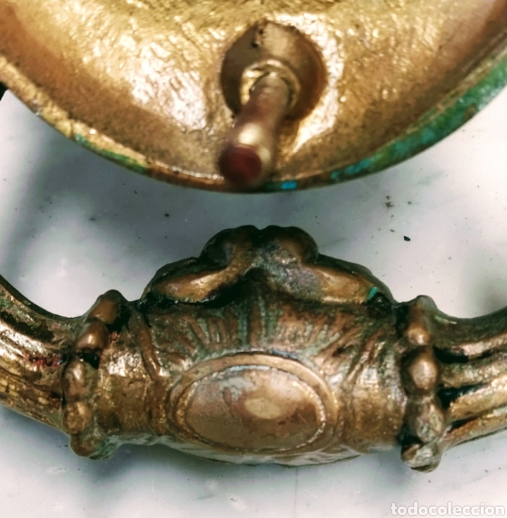 Antigüedades: Magnifico llamador de puerta en bronce. Grandes dimensiones. Siglo XVIII/XIX. - Foto 4 - 205457263