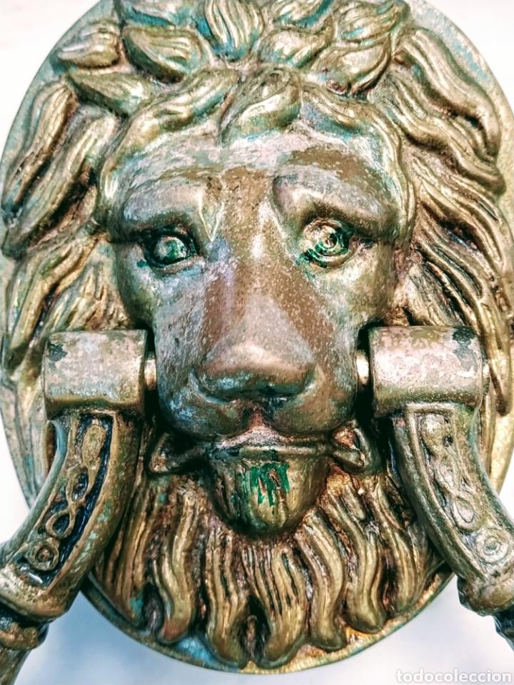 Antigüedades: Magnifico llamador de puerta en bronce. Grandes dimensiones. Siglo XVIII/XIX. - Foto 5 - 205457263