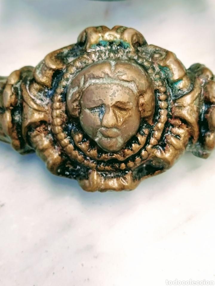 Antigüedades: Magnifico llamador de puerta en bronce. Grandes dimensiones. Siglo XVIII/XIX. - Foto 6 - 205457263