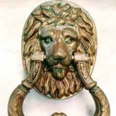 Antigüedades: MAGNIFICO LLAMADOR DE PUERTA EN BRONCE. GRANDES DIMENSIONES. SIGLO XVIII/XIX.. Lote 205457263