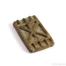 Antigüedades: PESA ASHANTI PARA PESAR POLVO DE ORO. GHANA. SIGLO XIX. Lote 205463581