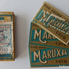 Antigüedades: ERROR IMPRESIÓN COLOR - MARUXA LUJO (CAJA INCOMPLETA) ADUANA PERFUMERÍA CIRCULACIÓN (SOBRECARGA. Lote 205511430