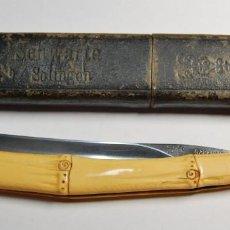 Antigüedades: NAVAJA DE AFEITAR ALEMANA DEL FABRICANTE WALD MODELO 18.MARCAJE SOLINGEN.RARA EN CAJITA ORIGINAL.. Lote 205534485