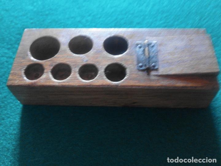 TACO DE MADERA PARA PESAS (Antigüedades - Técnicas - Medidas de Peso - Ponderales Antiguos)