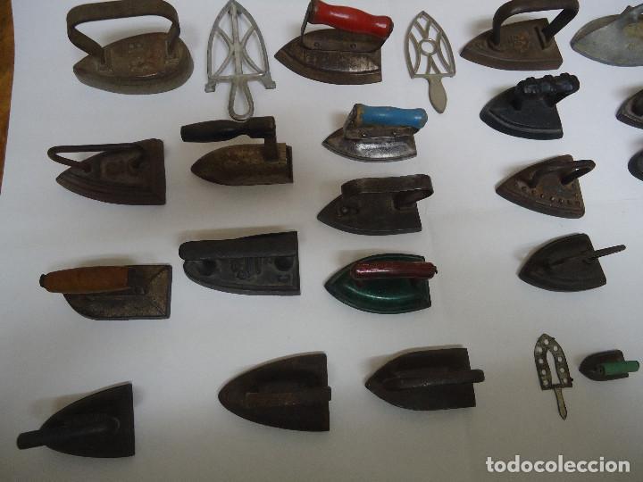 Antigüedades: COLECCION DE 23 PLANCHAS PEQUEÑAS AUTENTICAS ORIGINALES . ALGUNA MUY RARA. - Foto 6 - 205613106