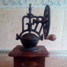 Antigüedades: MOLINILLO DE CAFE DE MADERAY HIERRO. Lote 205652136