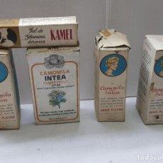 Antigüedades: CAMOMILA INTEA SIN ABRIR LOTE 4 Y GLICERINA KAMEL. Lote 205722487