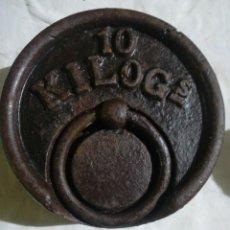 Antigüedades: PESA DE 10KG. Lote 205755850