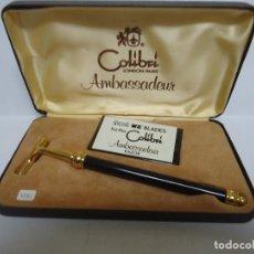 Antigüedades: ESTUCHE DE MAQUINILLA DE AFEITAR MARCA COLIBRI AMBASSADEUR. NUEVA. --- 9. Lote 205756283