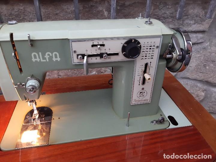Antigüedades: Máquina de coser alfa 104 - Foto 13 - 205780351