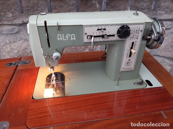 Antigüedades: Máquina de coser alfa 104 - Foto 21 - 205780351