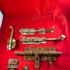 Antigüedades: LOTE DE CERROJOS ANTIGUOS. Lote 205787232
