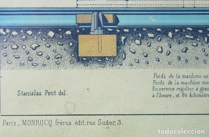Antigüedades: Lámina tela, original,libro le practicien industriel,1870,imprenta Monrocq,Paris - Foto 3 - 205806367