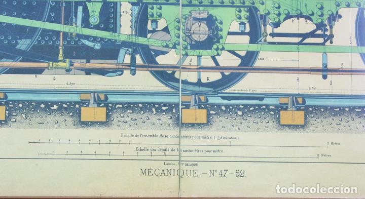 Antigüedades: Lámina tela, original,libro le practicien industriel,1870,imprenta Monrocq,Paris - Foto 4 - 205806367