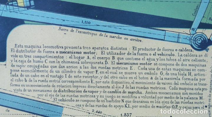 Antigüedades: Lámina tela, original,libro le practicien industriel,1870,imprenta Monrocq,Paris - Foto 5 - 205806367