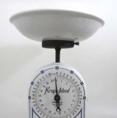 Antigüedades: BALANZA DE COCINA DE PORCELANA KRUPS IDEAL. Lote 206118783