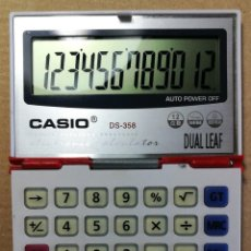 Antigüedades: CALCULADORA ANTIGUA CASIO DS-358 DUAL LEAF CALCULATOR SILENT TOUCH REBBER KEY BEST VIEW. Lote 206127755