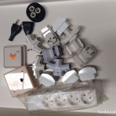Antigüedades: LOTE DE MATERIAL ELÉCTRICO O ELECTRICIDAD TODO LO QUE SE VE EN FOTO.. Lote 206166092