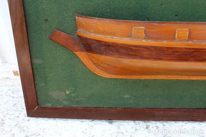 Antigüedades: marco de medio barco del prince de neufchatel 1813 - Foto 2 - 206199358