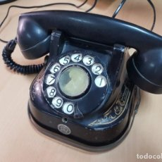 Téléphones: ANTIGUO TELEFONO NEGRO BAQUELITA BELL ADORNOS DORADOS. Lote 206211057