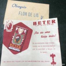 Antigüedades: HOJA DE AFEITAR BETER FLOR DE LIS.. Lote 206223511