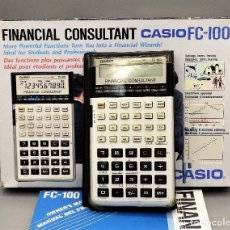 Antigüedades: CALCULADORA CASIO FINANCIAL CONSULTANT FC-100 CON CAJA ORIGINAL, MANUAL, ESTUCHE.. Lote 206227360