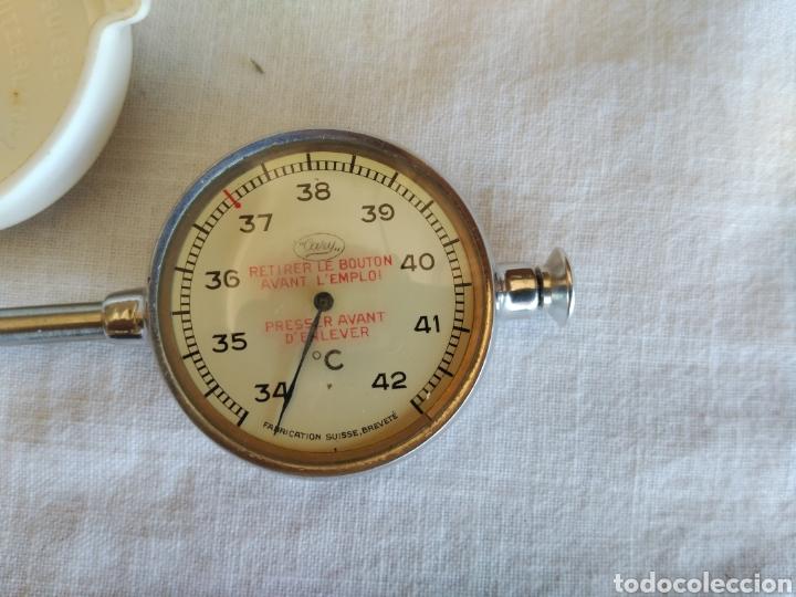 Antigüedades: Termómetro suizo clínico marca Cary con caja y funda. - Foto 4 - 206242737