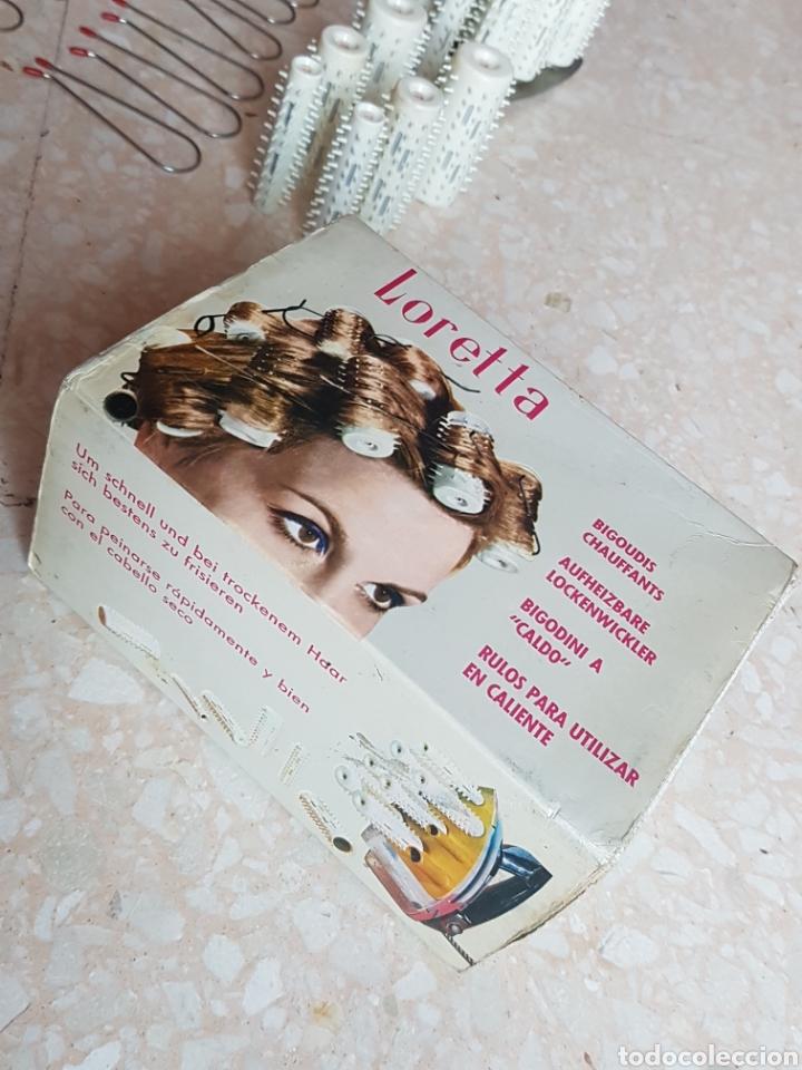 Antigüedades: Rulos para plancha marca Loretta años 50 - 60 - Foto 2 - 206271187