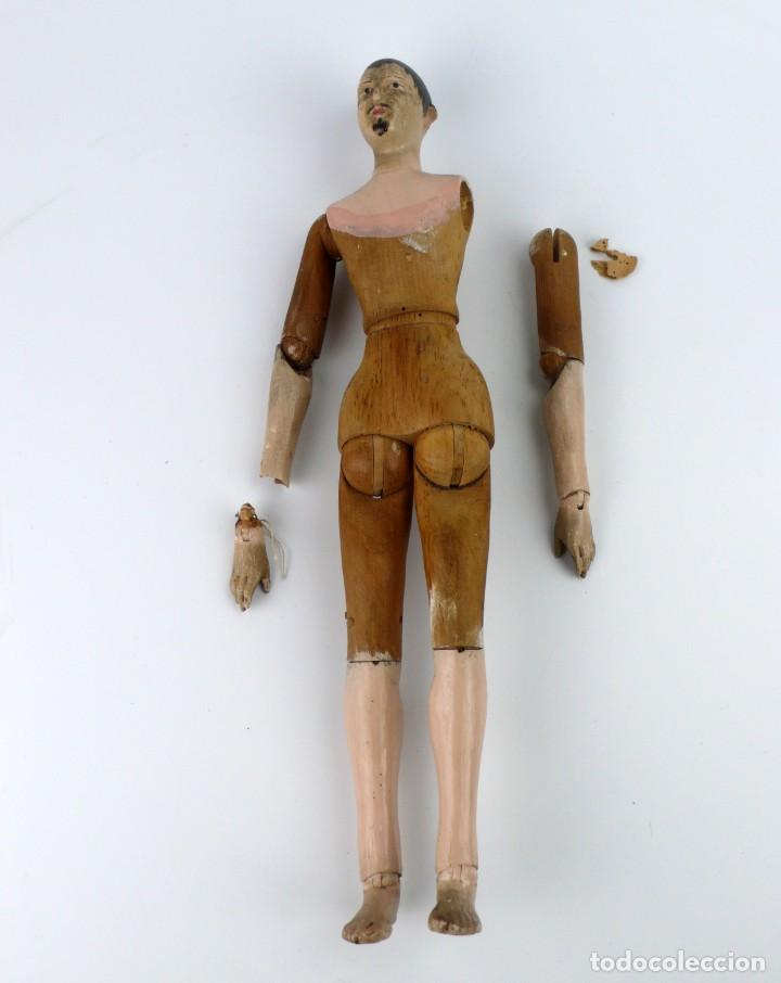 Antigüedades: Lay Figure, an articulated artists mannequin - carved wood - 33 cm - Francia,Ca.1820-40 - Foto 3 - 206316445