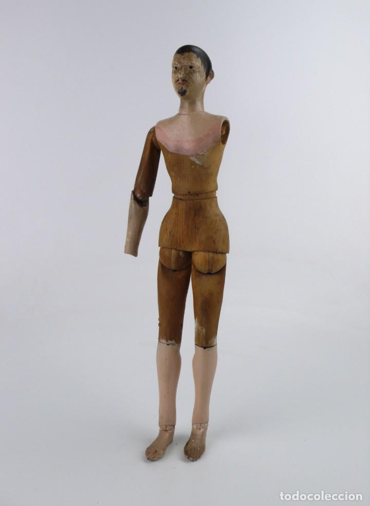 Antigüedades: Lay Figure, an articulated artists mannequin - carved wood - 33 cm - Francia,Ca.1820-40 - Foto 2 - 206316445