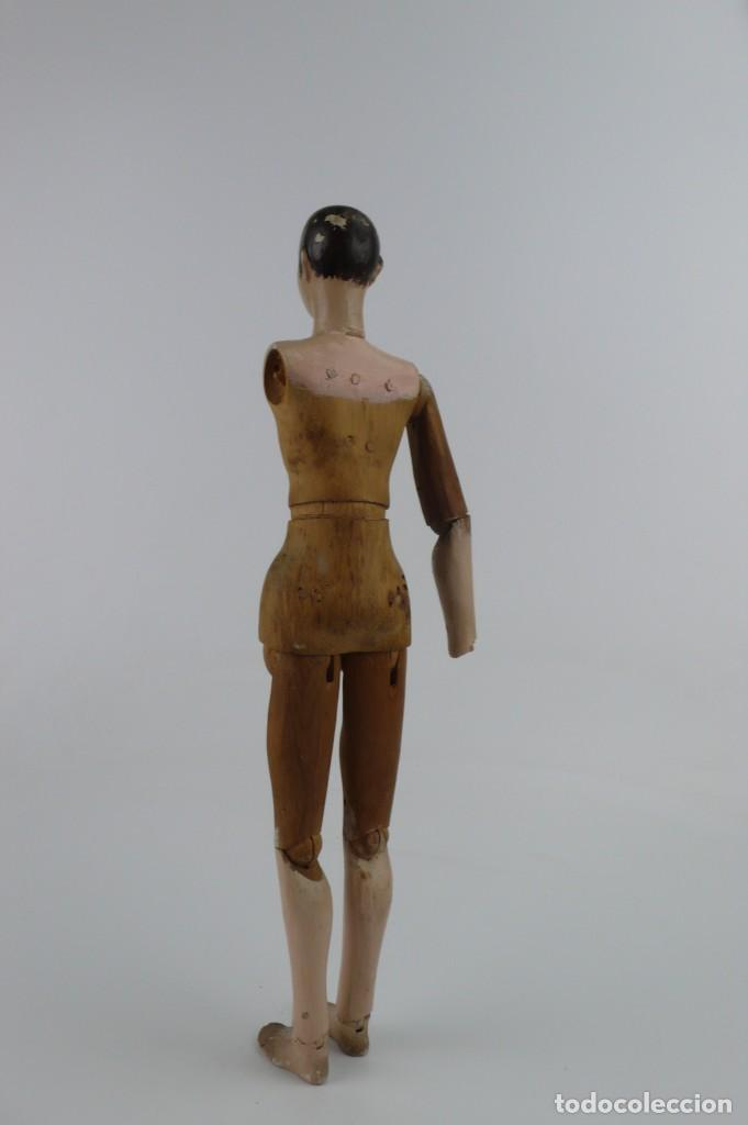 Antigüedades: Lay Figure, an articulated artists mannequin - carved wood - 33 cm - Francia,Ca.1820-40 - Foto 7 - 206316445