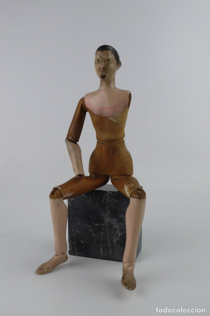 Antigüedades: Lay Figure, an articulated artists mannequin - carved wood - 33 cm - Francia,Ca.1820-40 - Foto 8 - 206316445