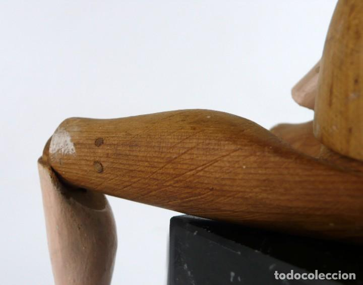 Antigüedades: Lay Figure, an articulated artists mannequin - carved wood - 33 cm - Francia,Ca.1820-40 - Foto 12 - 206316445